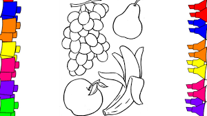 Apple Coloring Pages For Kindergarten With Preschool Crafts Also
