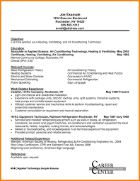 Hvac Engineer Resume Examples Templates Project Sample Design