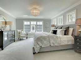 Traditional Master Bedroom with High ceiling, INSPIRE Q Kingsbury Grey  Linen Tufted Upholstered Platform Bed