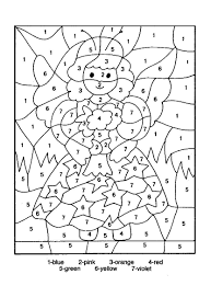 Printable Color By Number Pages : Kids Coloring - Free Kids Coloring