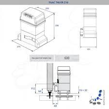 faac 746 er z16 sliding gate motor kit m botech shop Dusk to Dawn Photocell Wiring at Faac Photocell Wiring Diagram