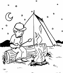 Small Picture Free Coloring Pages Camping At itgodme
