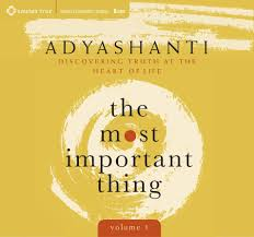 Adyashanti Birth Chart Most Important Thing Volume 1 Discovering Truth At The