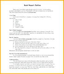 Book Report Outline College Level Chapter Outline Template Writing A Book Report Summary