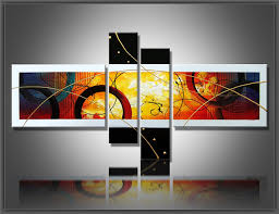 100 hand painted canvas abstract oil painting multi panel canvas wall art large home office on large multi panel canvas wall art with 100 hand painted canvas abstract oil painting multi panel canvas
