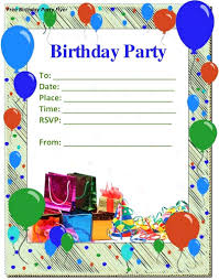 Birthday Invitation Card Templates Free Download Template Happy Birthday Invitation Card Template 19