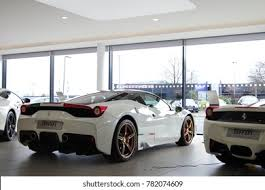 Ferrari 458 can reach a maximum of 325 kph. Birmingham England October 2017 Ferrari 458 Stock Photo Edit Now 782074609