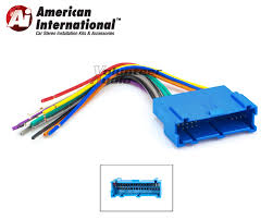 gm car stereo cd player wiring harness wire aftermarket radio american international gwh346 standard wiring harness
