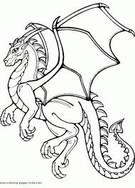 Printable Flying Dragon Coloring Page Fantasy Coloring Pages