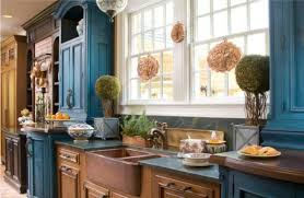 copper farmhouse sink and painting kitchen cabinets with tile backsplash also window treatment and painting kitchen cabinets with chalk paint with spray