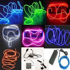 Car Light Decoration 5m Flexible Neon Led Light Glow El Wire String Strip Rope Tube Car