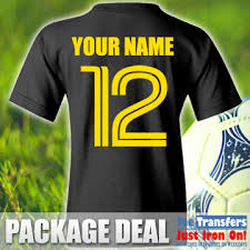 Package Iron On Kits For And Numbers Names Football