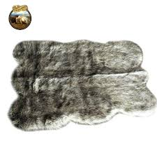 brown faux fur rug clearance soft faux fur area rug gy fake fur gray