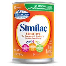 Similac Sensitive 20 For Infants With Lactose Sensitivity