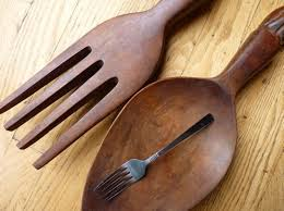 wall arts giant fork and spoon art