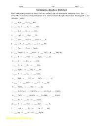 balancing equations worksheet 1 activities some chemical to balance pdf