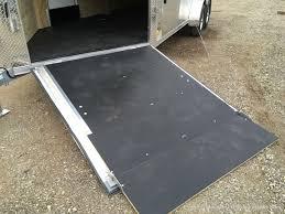 2018 ameralite aluminum snowmobile trailer 7x23 w white walls ceilng nudo floor