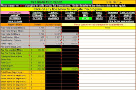 Trucking Spreadsheet Download Truck Driver Accounting Software Spreadsheet Program From Dieselboss