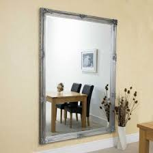 the mirror glass itself comes bevelled this mirror has a glass size of 6ft x 4ft 183cm x 122cm and an overall size of 6ft 7 x 4ft 7 200cm x 140cm