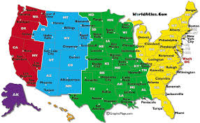 Time Map Understanding American Time Zones Time Zone Map State Map