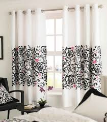 Bedroom Window Curtain Black And White Curtain