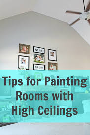 how to paint a room with high ceilings