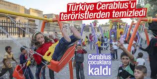Cerablus'ta çocukların bayram eğlencesi