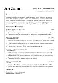 Customer Service Resume Sample Customer Service Resume Jeff Zimmer