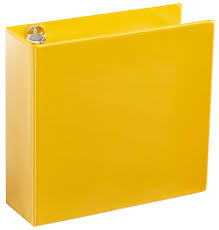 Binder 3 Inch A4 3 Yellow 4 Ring Binder