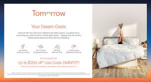 tom rrowyour dream oasisdiscover the new tomorrow mattress and sleep system a curated set ofeverything