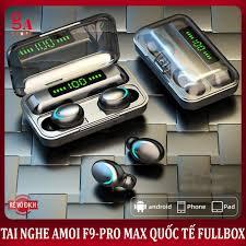 Tai Nghe Bluetooth Amoi F9 Pro Max Quốc Tế - Tiếng anh - BLT 5.0 -  Freeship, Chống nước, chống ồn, có DAC giá rẻ 280.000₫