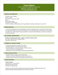 Resume Sample Format Sample Resume Format For Fresh Graduates Two