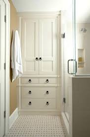built in linen closet bathroom storage inspiration tall cabinet with doors narrow