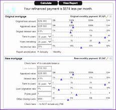 Mortgage Refinance Calculator Excel Mortgage Refinance Calculator Refinance Mortgage Calculator