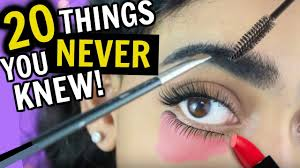 20 things you never knew about makeup hair