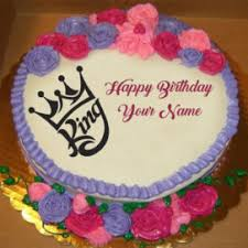 Name Birthday Cakes Greeting Cards