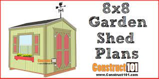 garden shed plans 8x8 step by step