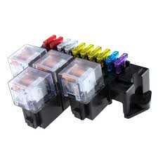 us 15 75 30% off 10 way fuse box 13pcs standard blade fuses 5 pin socket base relay fuse holder block relay terminals universal for auto in