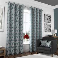 Teal Patterned Curtains Amazing Inspiration Curtain White And Teal Curtains Teal And Gray