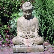 garden buddha. Meditating Buddha Garden Statue
