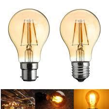 A60 E27b22 4w Retro Led Filament Incandescent Light Bulb For Bedroom Decoration Ac220 240v