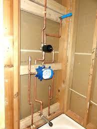 installing shower valve to shower valve installation shower valve installation