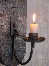rustic candle sconce wall candle holder