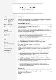 Veterinary Technician Resume Example Vet Tech Resume
