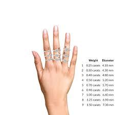 Cushion Cut Carat Size Chart 0 96 Carat 18k White Gold Carla Cushion Outline Halo Ring