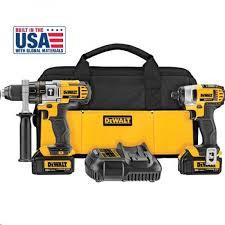 dewalt 20v max. dewalt dck290l2 20v max hammer drill / impact 2-tool cordless combo kit (3.0 dewalt 20v max 1
