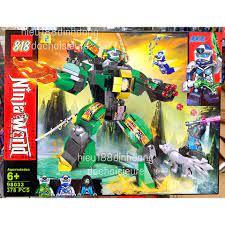 Lắp ráp xếp hình non lego ninjago 98033 : Robot người máy xanh lá cây của  lloyd 378 mảnh