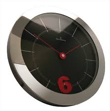Small Picture Oliver Hemming Large Wall Clock with rotating number 6 Buy