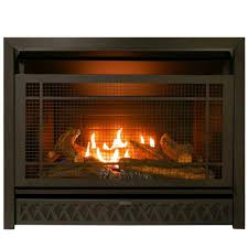procom gas fireplace insert duel fuel technology 26 000 btu