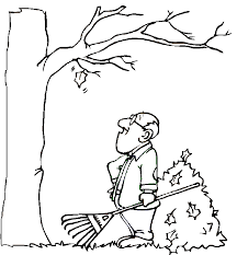 Small Picture Coloring Page Fall Tree Coloring Pages
